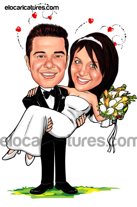 wedding couple caricature ocean www elocaricatures in bride and groom clipart cartoon hanging bride and groom clipart free download